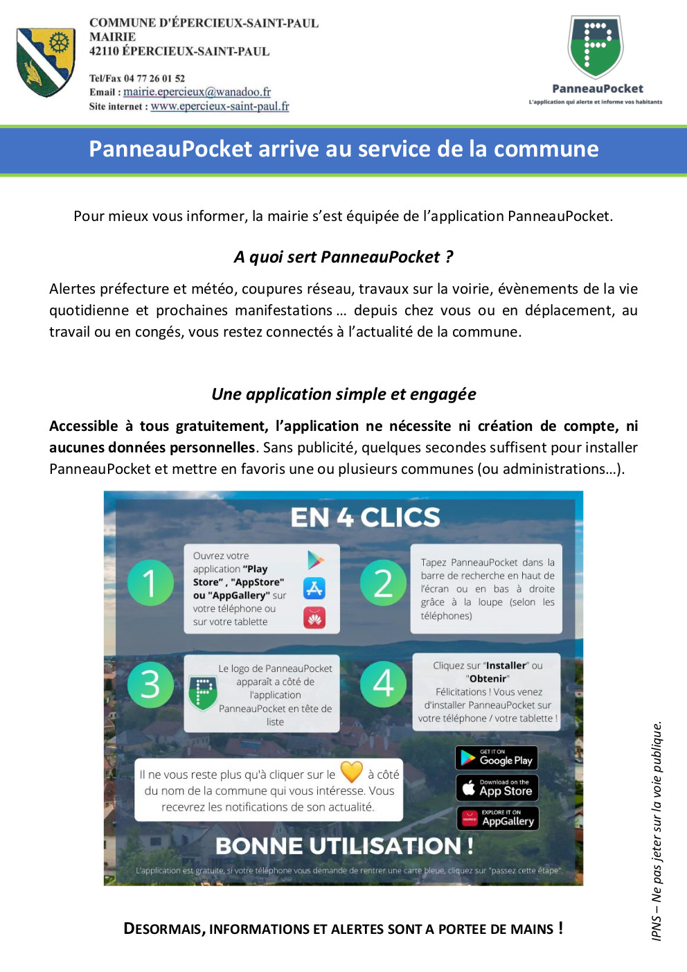 Epercieux Tract panneaupocket 1